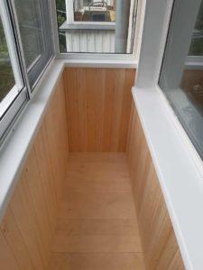 Балкон внутри