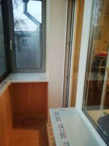 подоконник, вход на балкон