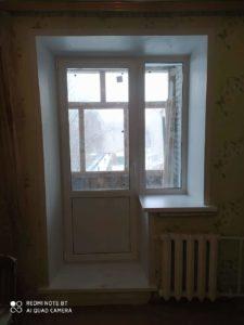 Выход на балкон, балконный блок